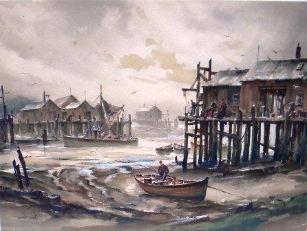 11: Watercolor, Provincetown, John Hare, Harbor