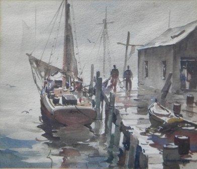 16: Watercolor, Provincetown, John Hare, Cape Cod