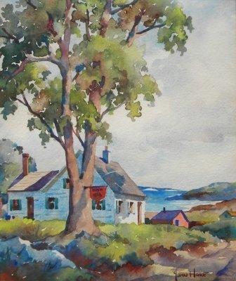 17: watercolor, Cape Cod, John Hare, Provincetown