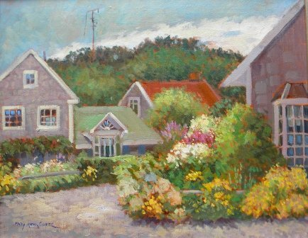18: oil, Provincetown, Mary A. Goetz, townscape