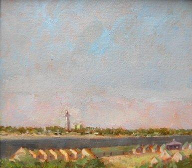 19: oil, Provincetown, Mary A. Goetz, landscape