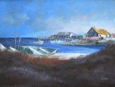 20: oil, Philip Hicken, Harbor, Heather Cove