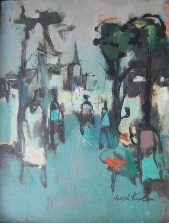 21: oil, Provincetown, Joseph Kaplan, People