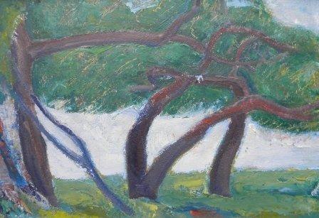 22: oil, Provincetown, Ross E. Moffett, landscape