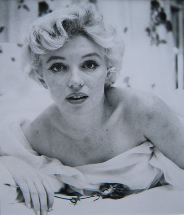 1: Marilyn Monroe, untouched photo by Cecil Beaton, '56