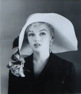 Marilyn Monroe With Hat, Photo By Carl Perutz,  1958