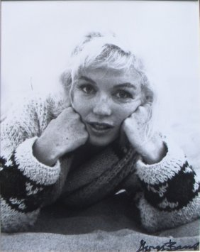 3: Marilyn Monroe photograph, 1962, signed by George Ba