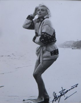 4: Marilyn Monroe in Sweater on Sand, 1962, with George