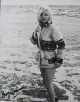 Marilyn Monroe In Sweater In Water, 1962, With Georg