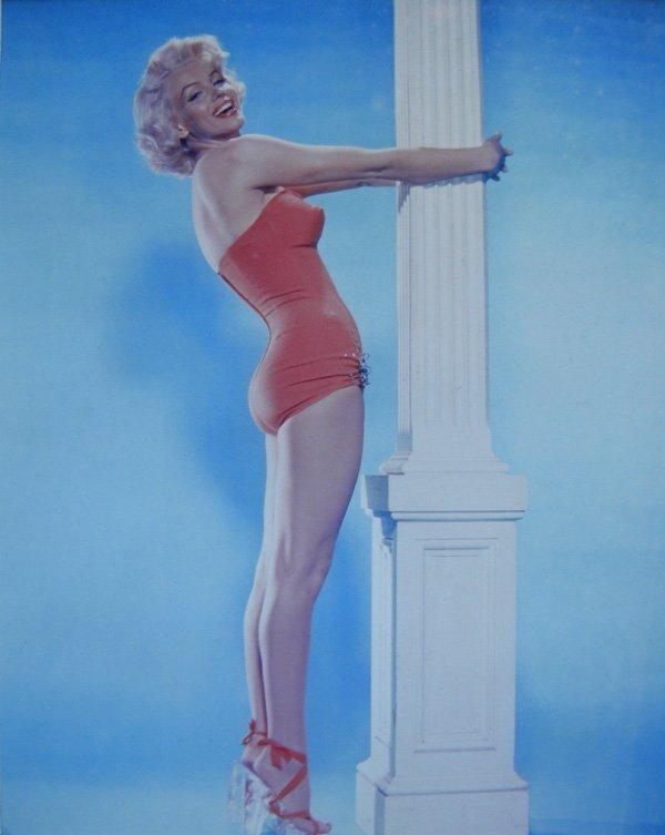 6: Marilyn Monroe with Pillar, color photograph, 8 x 10
