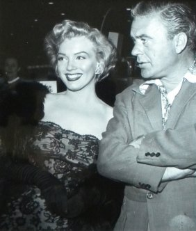 7: Marilyn Monroe with Man, candid photograph, 1950's,