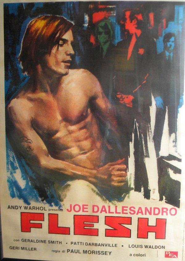 "15: Andy Warhol's ""Flesh"" movie poster, 52 x 35, framed"