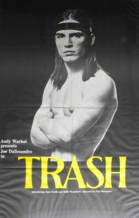 "16: Andy Warhol's ""Trash"" movie poster, 40 x 26, frame:"