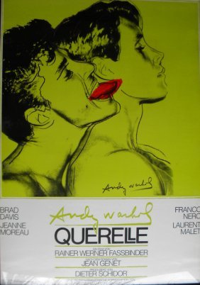 """17: Andy Warhol's """"Querelle"""""""" movie poster, 39 x 27, fr"""