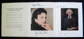 19: Andy Warhol and Jamie Wyeth Show Catalogue, Coe-Ker