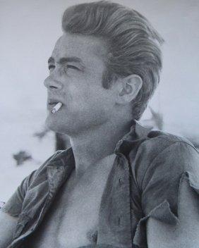20: James Dean with cigarette photograph, 8 x 10