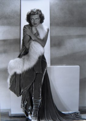 23: Joan Crawford in fur photograph with Hurrell stamp,
