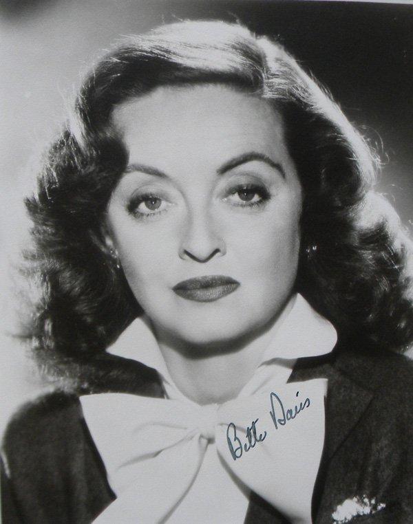 29: Bette Davis autographed photograph, 1950, 8 x 10