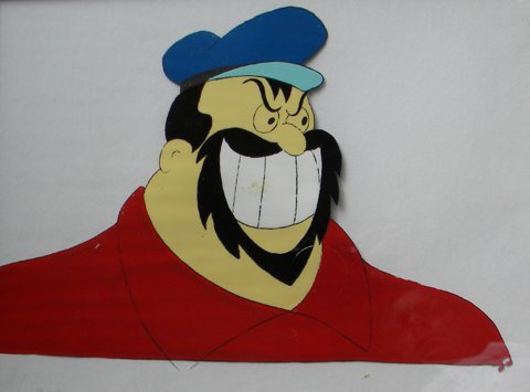 174: Brutus (from Popeye), animation cell (gouache on c