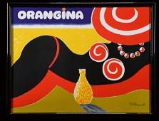 ORANGINA - VINTAGE POSTER by Bernard Villemot