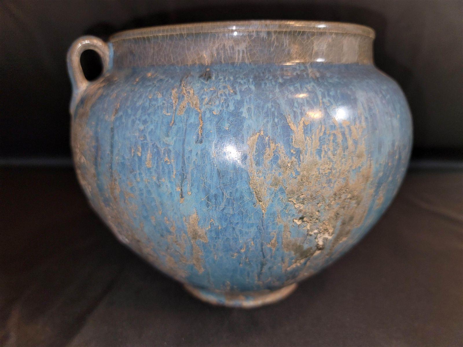 Jun Ware Double Handles Porcelain Jar
