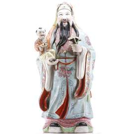 Early 20thC Chinese Porcelain Statue of an Immortal
