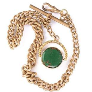 Victorian Pinchbeck Pocket Watch Chain