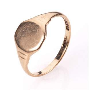 NO RESERVE PRICE 9ct Gold Signet Ring