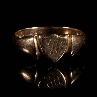 FREE POST 9 kt. Gold Victorian Signet Ring