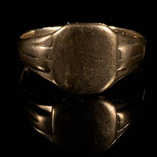 FREE POST 9 kt. Gold Gent's Signet Ring
