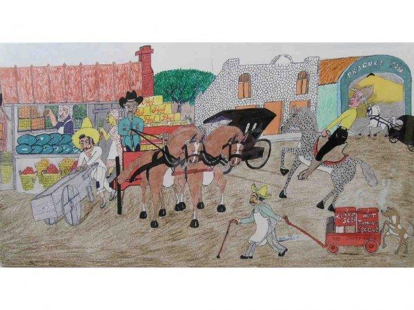 161: Banks, J.W. - Outsider/Folk Art Drawing
