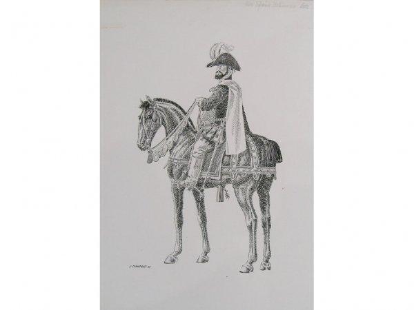 172: Cisneros, Jose  New Spain Nobleman Drawing