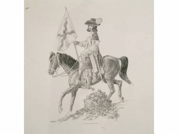 173: Cisneros, Jose - S.P. Ensign (Alferez) Drawing
