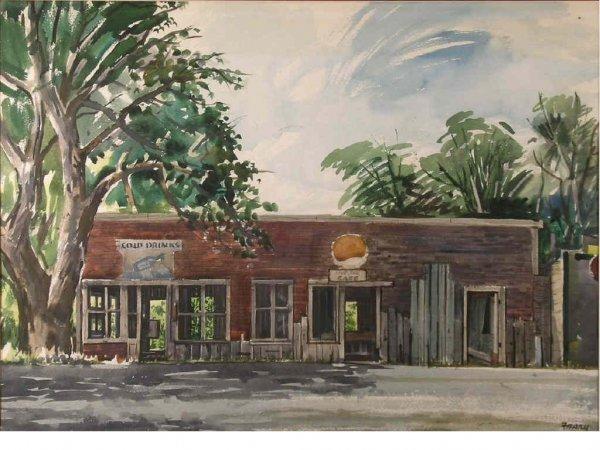 179: Frary, Michael - Ingram Texas Landscape Watercolor