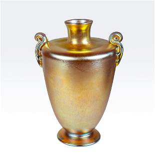 Louis Comfort Tiffany gold favrile glass vase