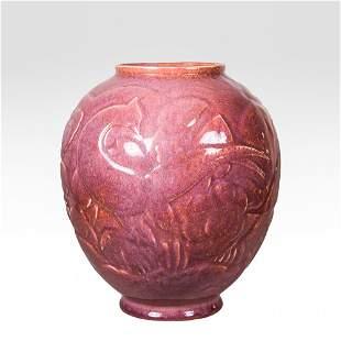 Cowan Pottery flamingo vase by Waylande Gregory