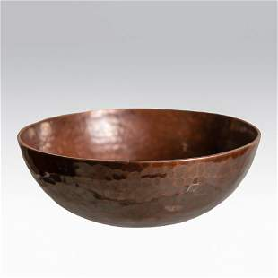 Dirk Van Erp D'arcy Gaw copper bowl