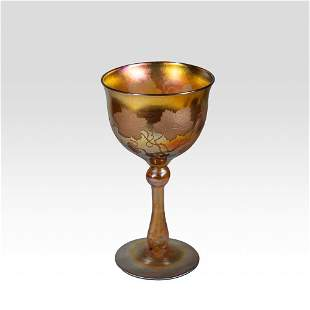 Louis Comfort Tiffany goblet Grapevine