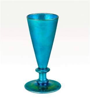 Steuben Blue Aurene Liqueur