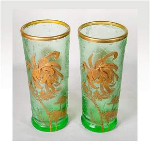 A pair of matching Mont Joye vases