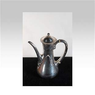 Tiffany sterling silver coffee pot in the clover