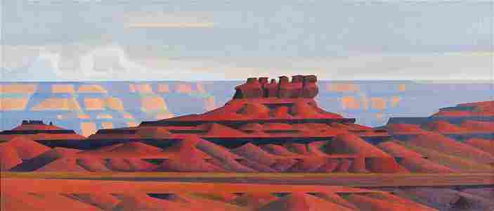 Ed Mell oil painting Red Formations