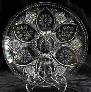 Incredible Sinclaire American Brilliant Cut Glass Tray