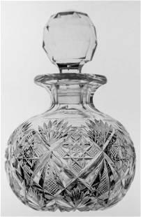 Dorflinger Brilliant Cut Glass Marlboro Cologne Bottle