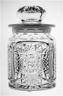 Pairpoint Brilliant Cut Glass Humidor Nevada Pattern