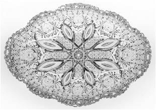 Parsche Propellor American Brilliant Cut Glass Bowl