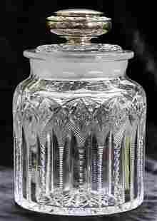 Dorflinger Chester Humidor Replacement Top Cut Glass