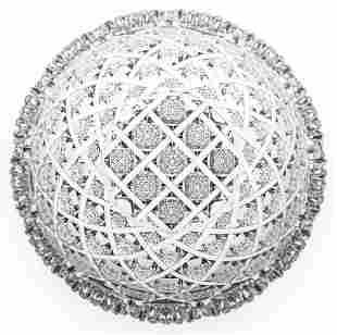 Incredible J. Hoare Trellis Brilliant Cut Glass Bowl