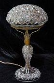 RARE Tuthill Rex Russian Brilliant Cut Glass Lamp