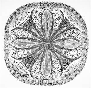 Huge Hawkes Chrysanthemum Brilliant Cut Glass Bowl
